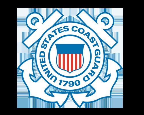 Logo for the United States Coast Guard.