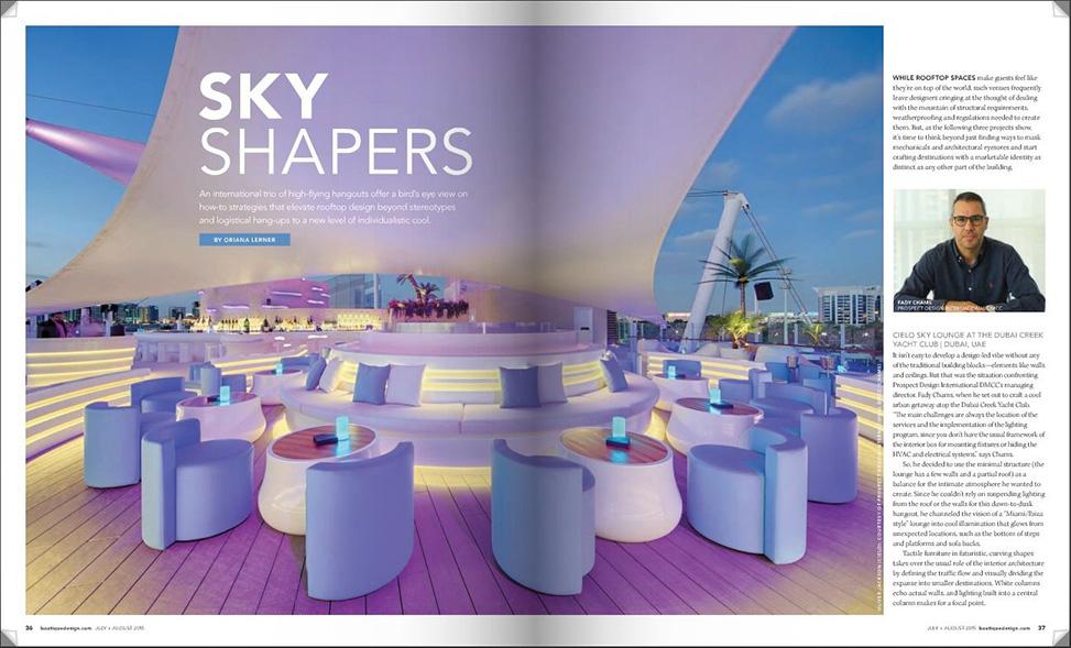 sky shapers - roof top restaurant designing
