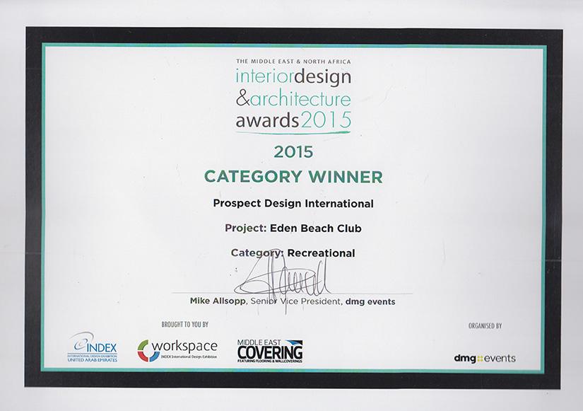 award winner - interior design services