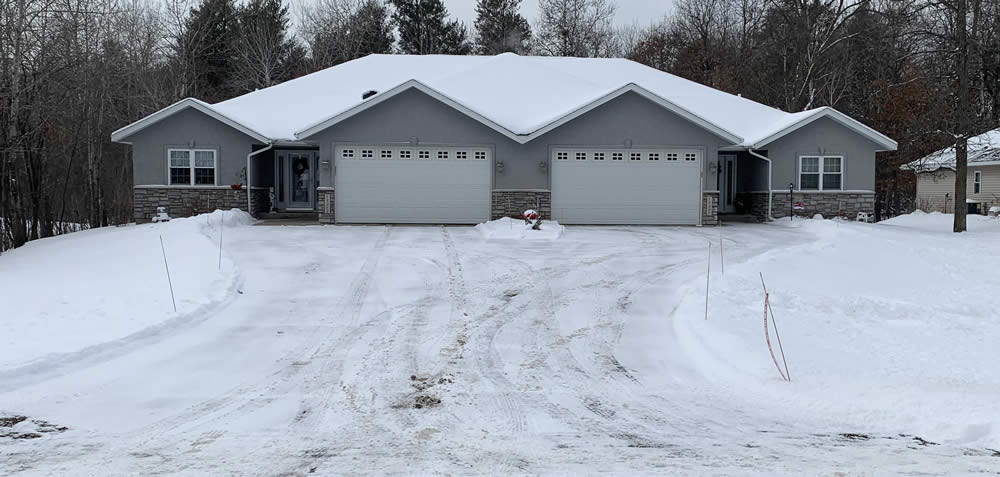 Driveway with no deicing service.