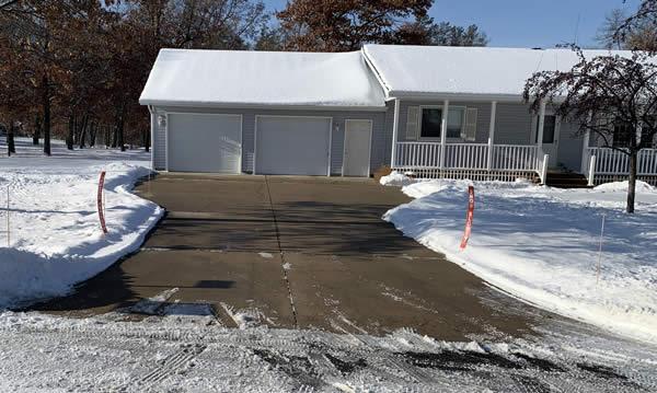 Deicing service creates a safe driveway.