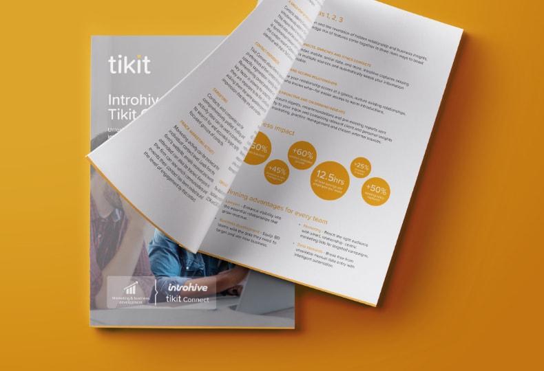 Tikit Brochure Spread | Q+H London