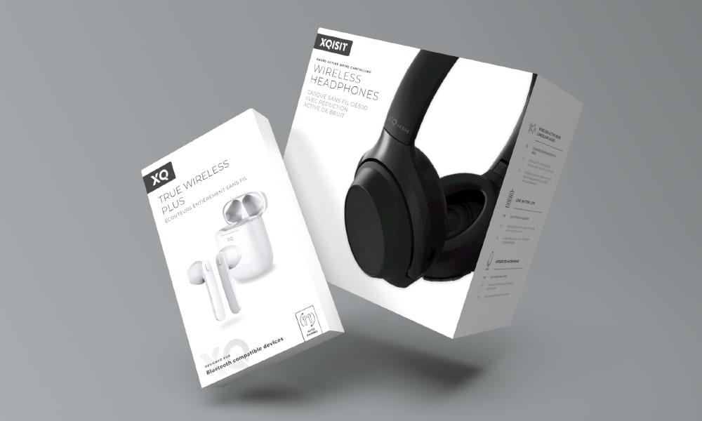 Xqisit Headphones Packaging   Q+H London