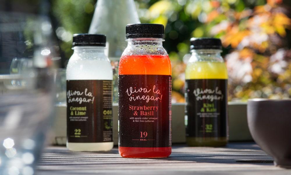 Viva La Vinegar Cider Vinegar Drink Packaging   Q+H London