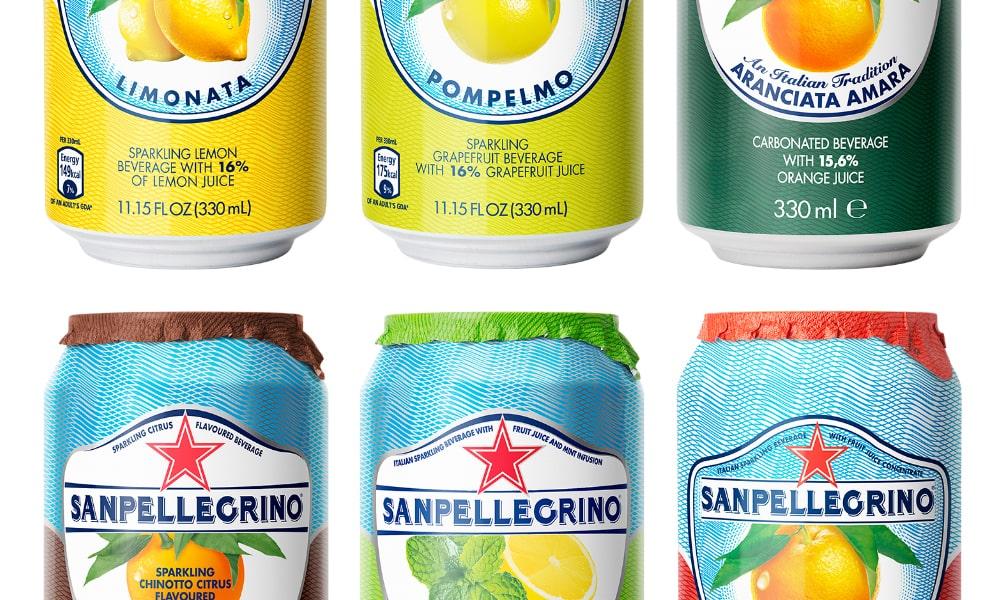 San Pellegrino Cans Packaging   Q+H London