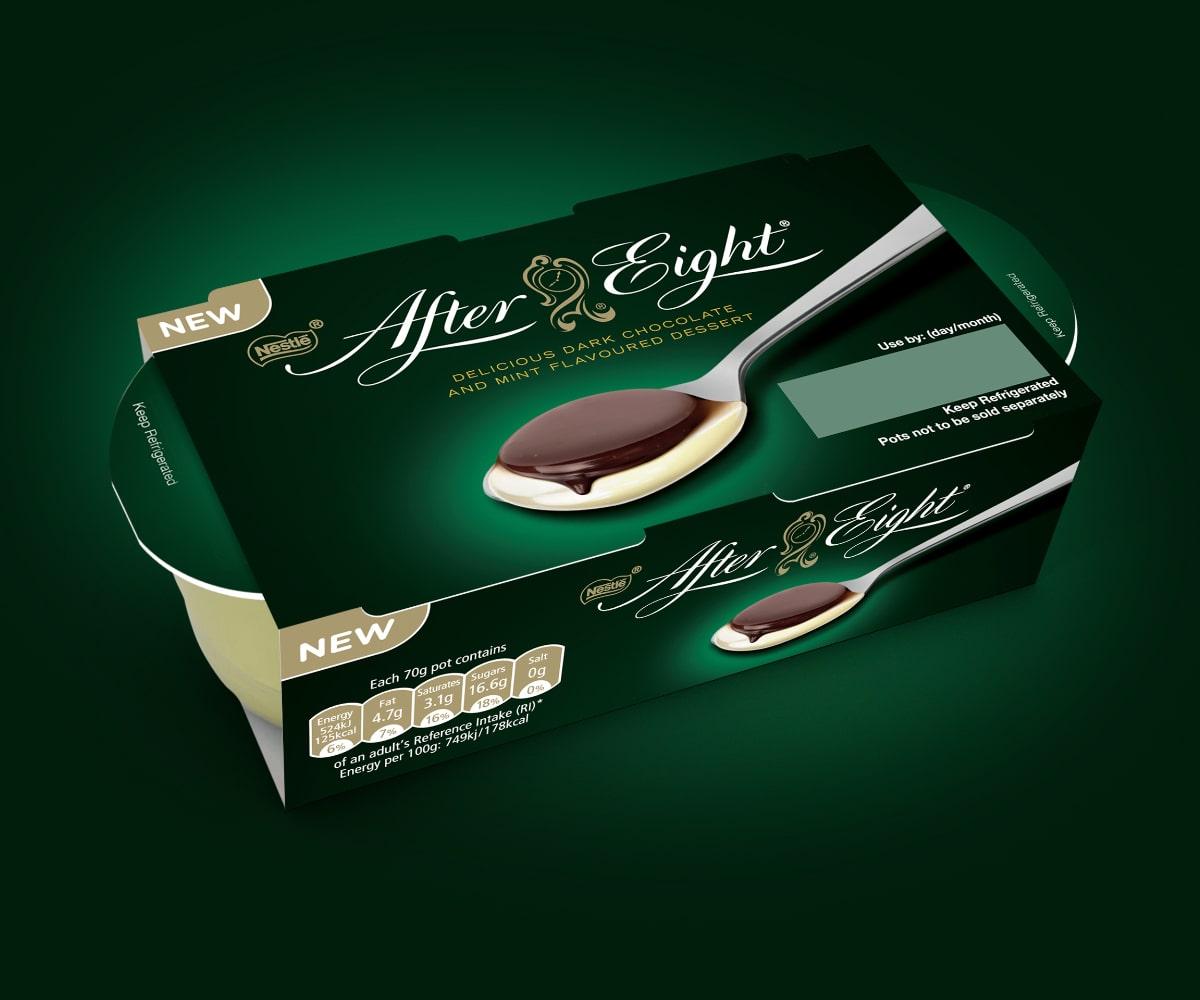 After Eight Yogurt Packaging   Q+H London