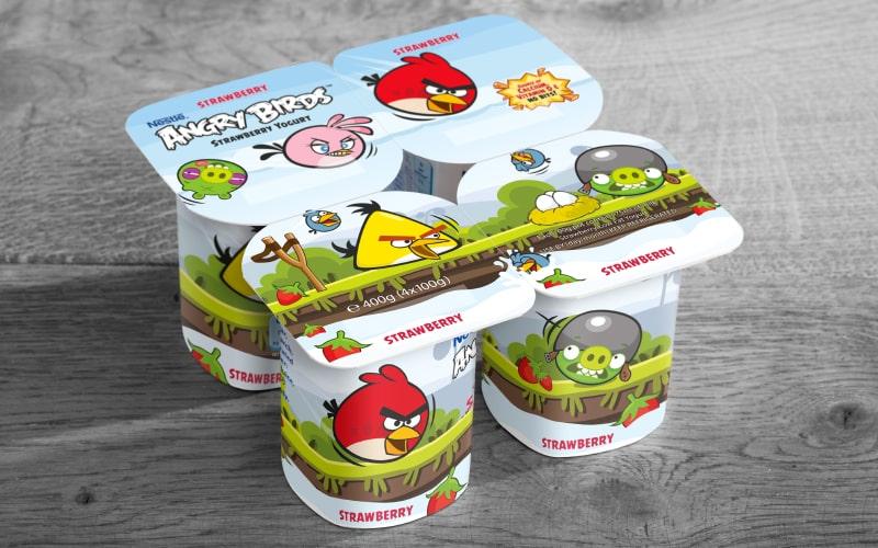 Angry Birds Yogurt Packaging   Q+H London