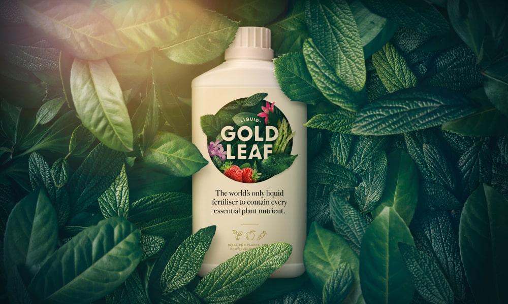 Gold Leaf Fertiliser Packaging   Q+H London