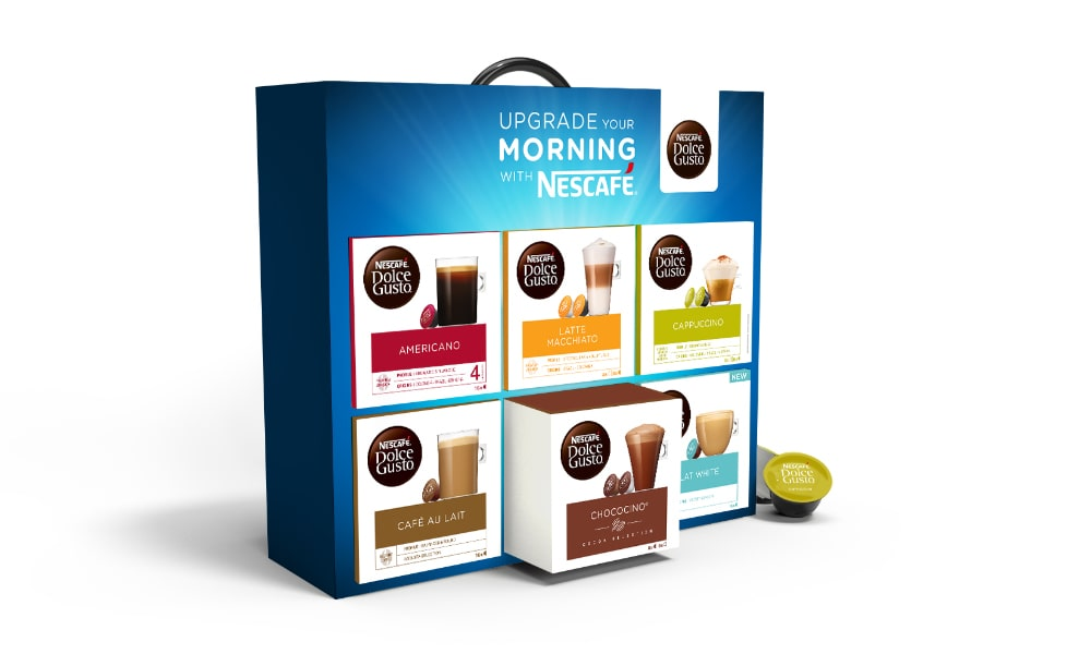 Dolce Gusto Pod Box Gift Set Packaging   Q+H London
