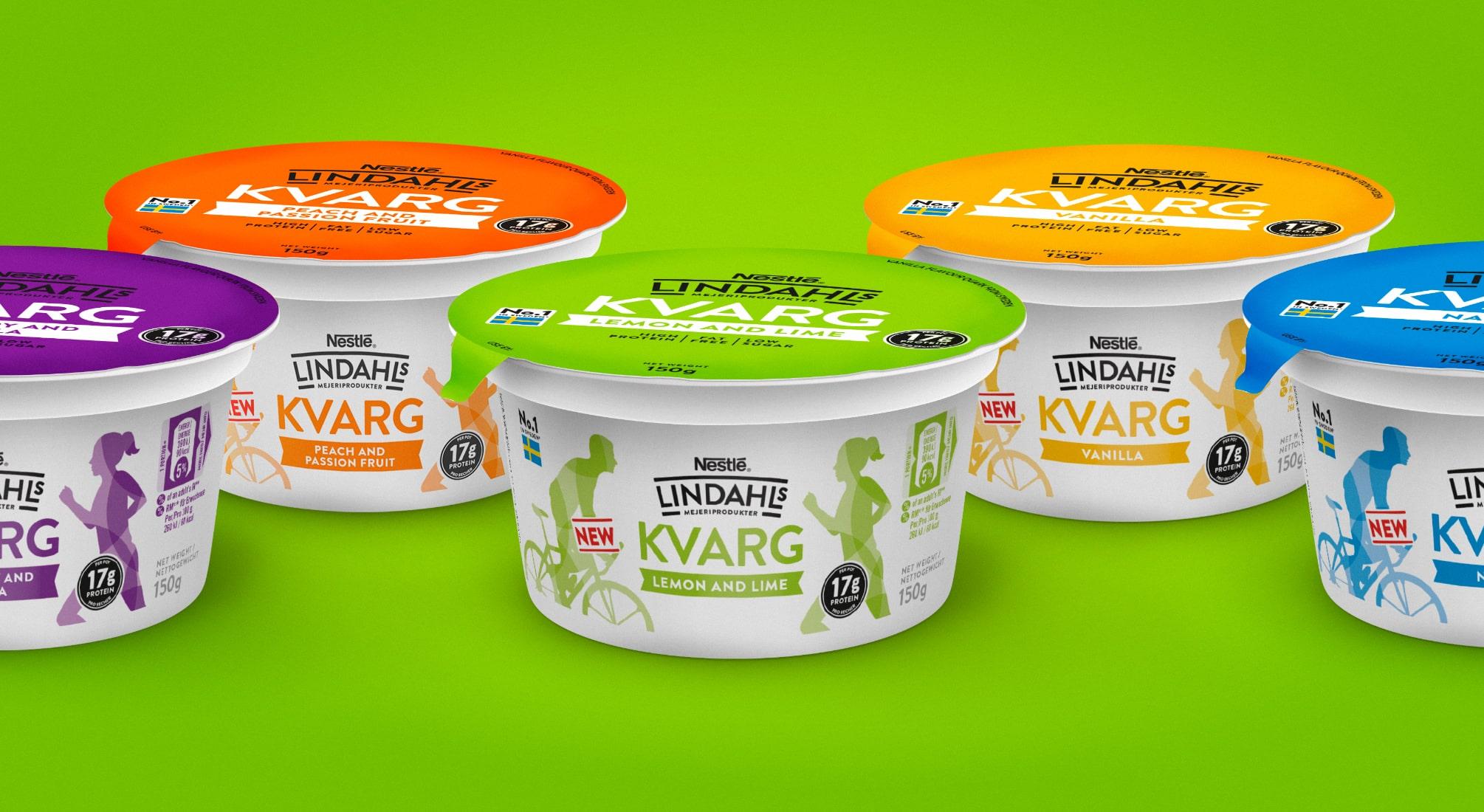 Lindahls Kvarg Yogurt Packaging   Q+H London