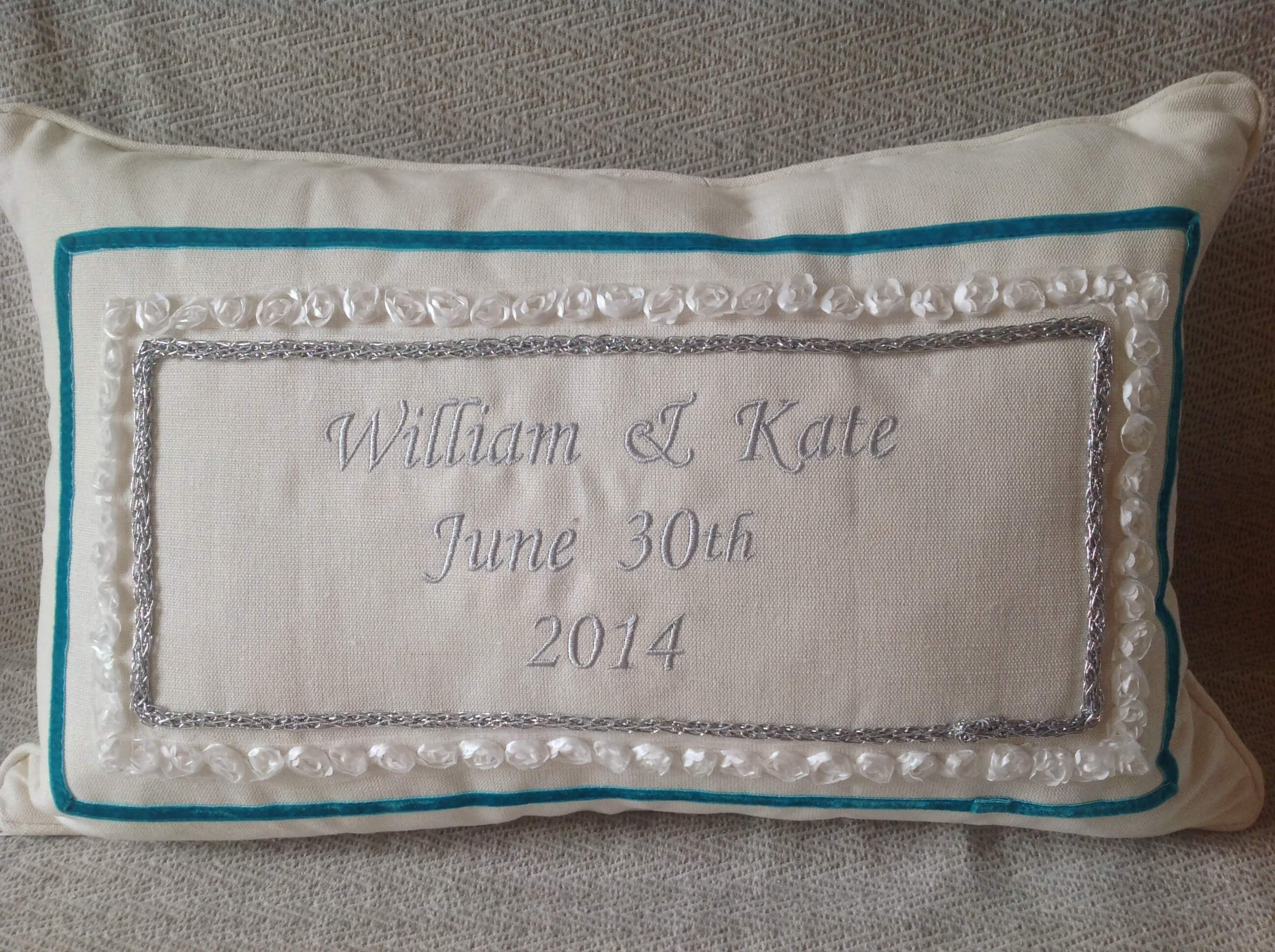 Winning Memories Wedding Cushion