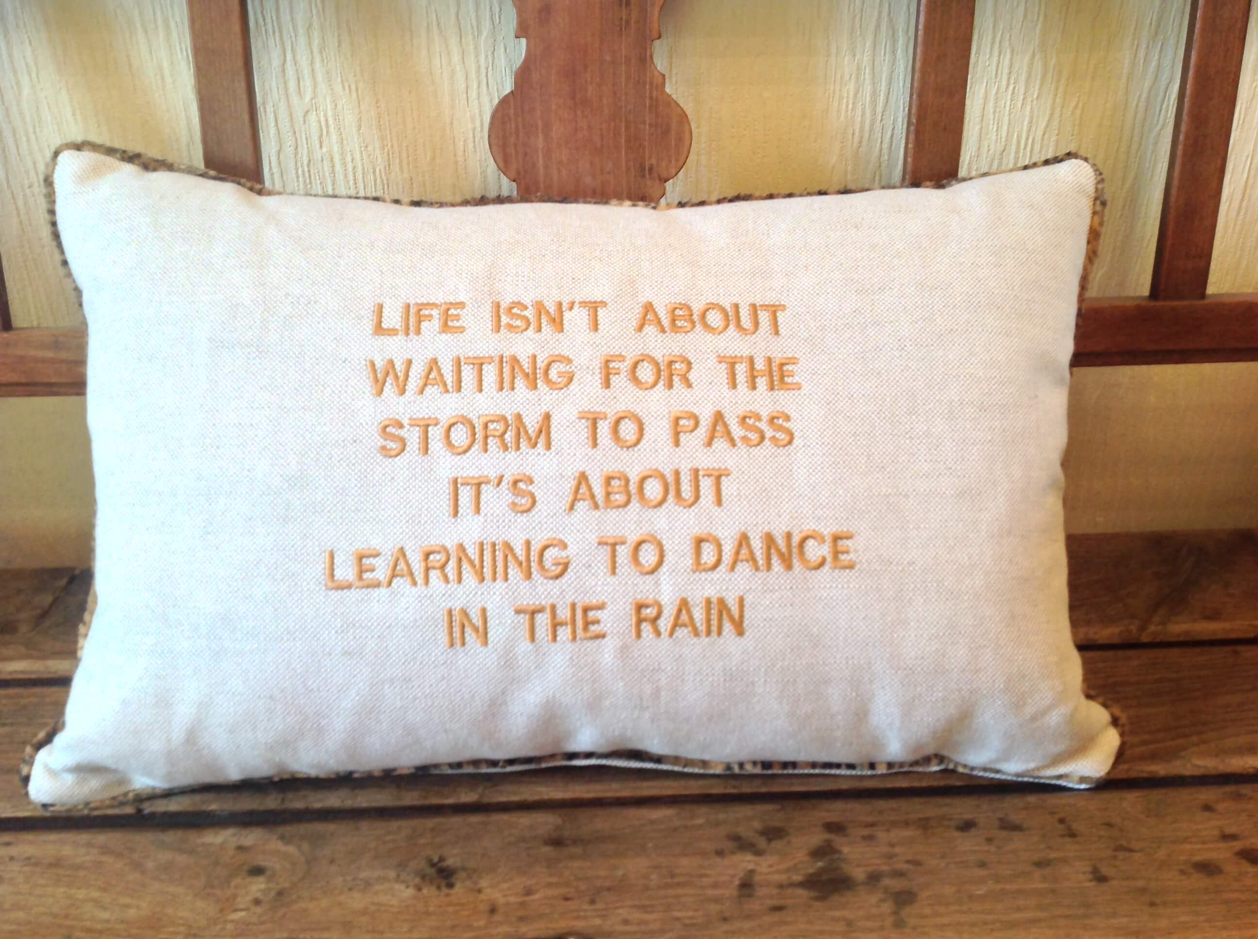 Winning Memories Quote Cushion