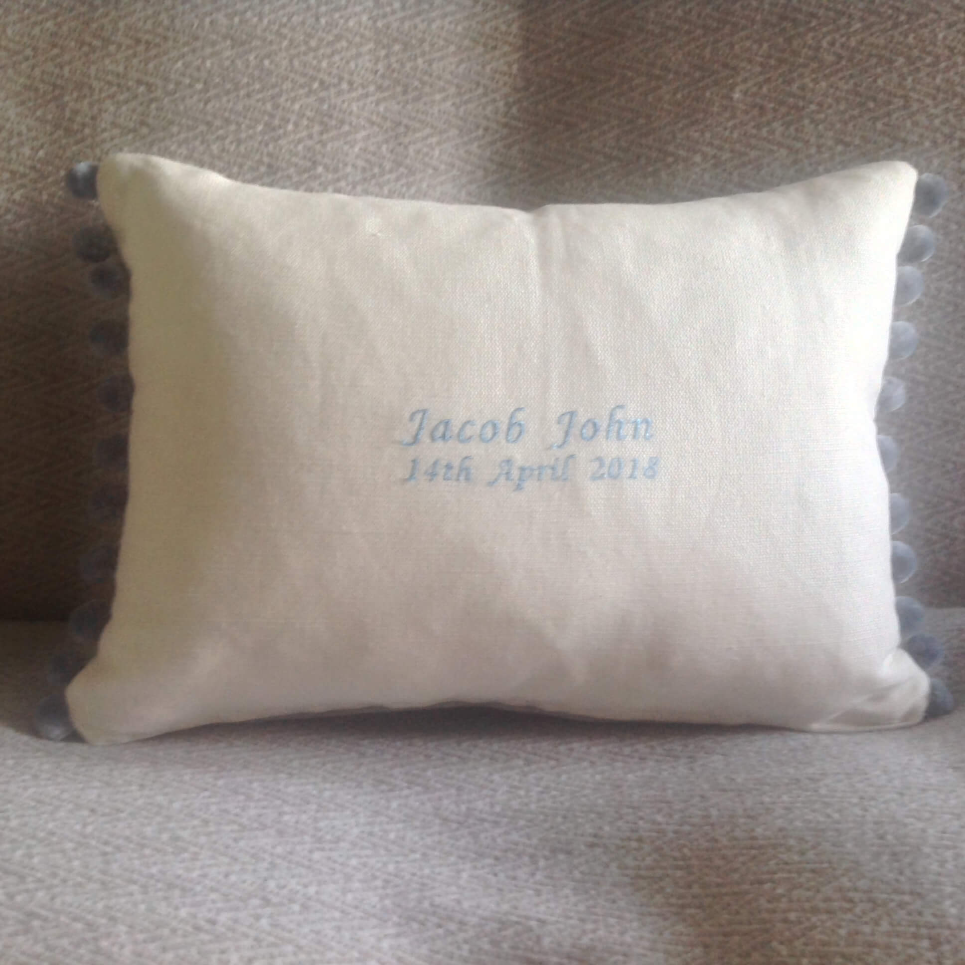 Winning Memories Christening Cushion
