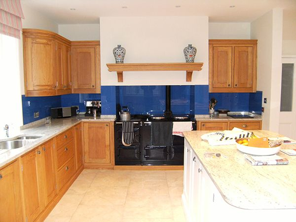 Blue Splash Back