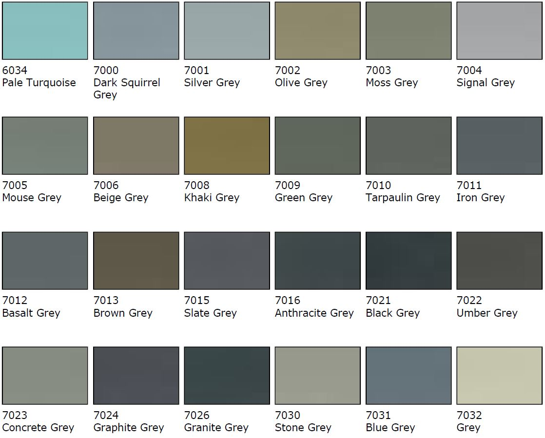 Grey Colour Samples