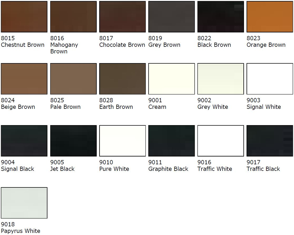 Cream Colour Samples