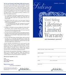 general siding warranty