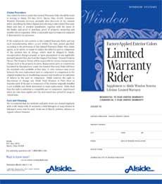 window color warranty