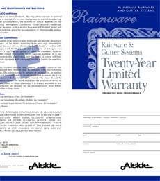gutter warranty