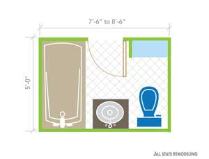 full bathroom design layout