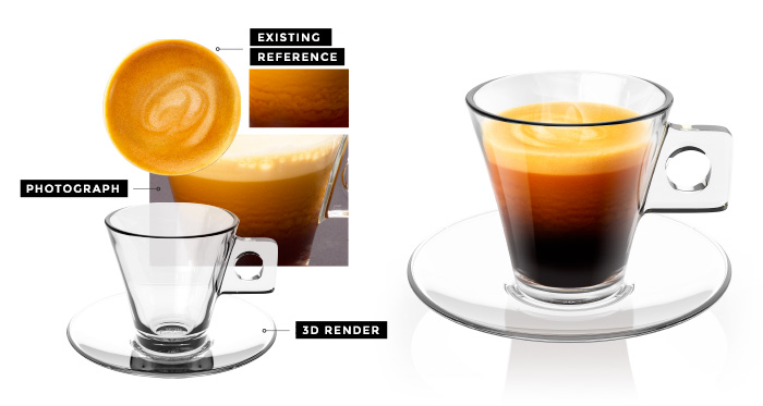 Espresso Coffee Packshot Creation | Q+H London