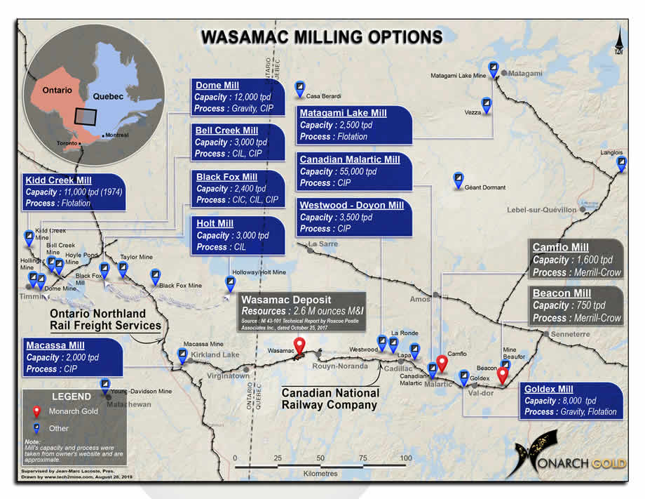 Wasamac Custom Milling Map