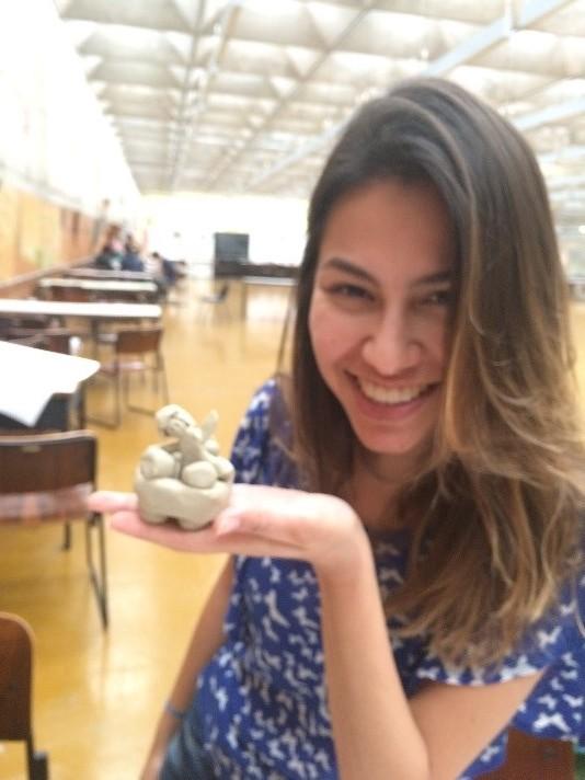 Angela Gardinalli com Sara da AIESEC USP