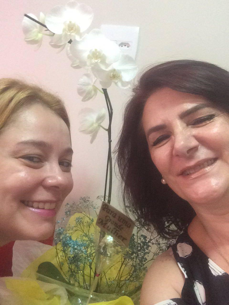 Angela Gardinalli com Silvana