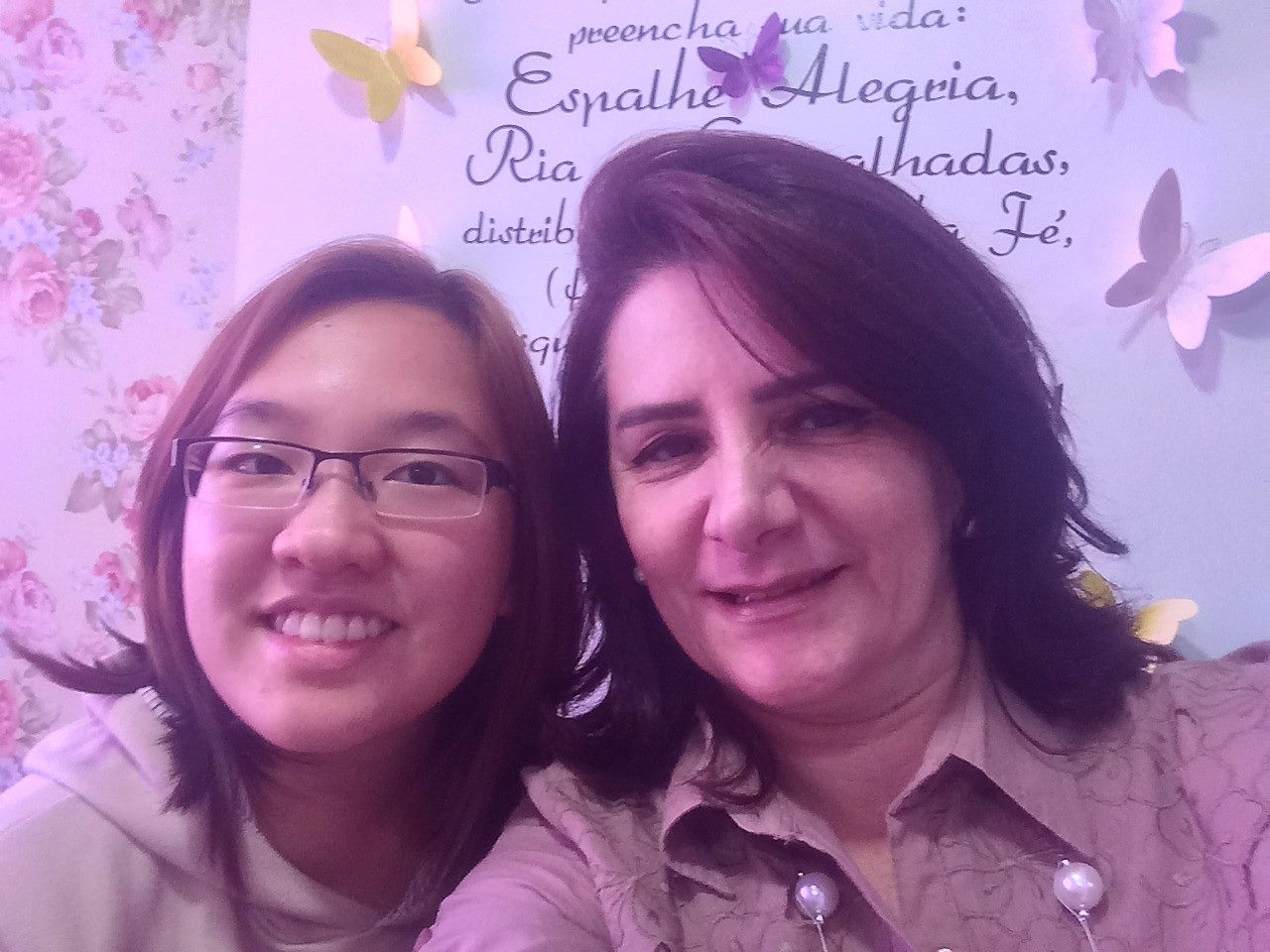 Angela Gardinalli e Marina AIESEC na USP