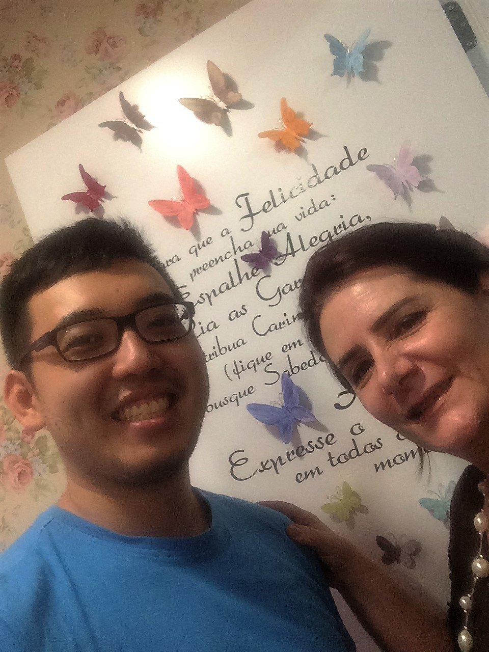 Angela Gardinalli com aluna Eduardo