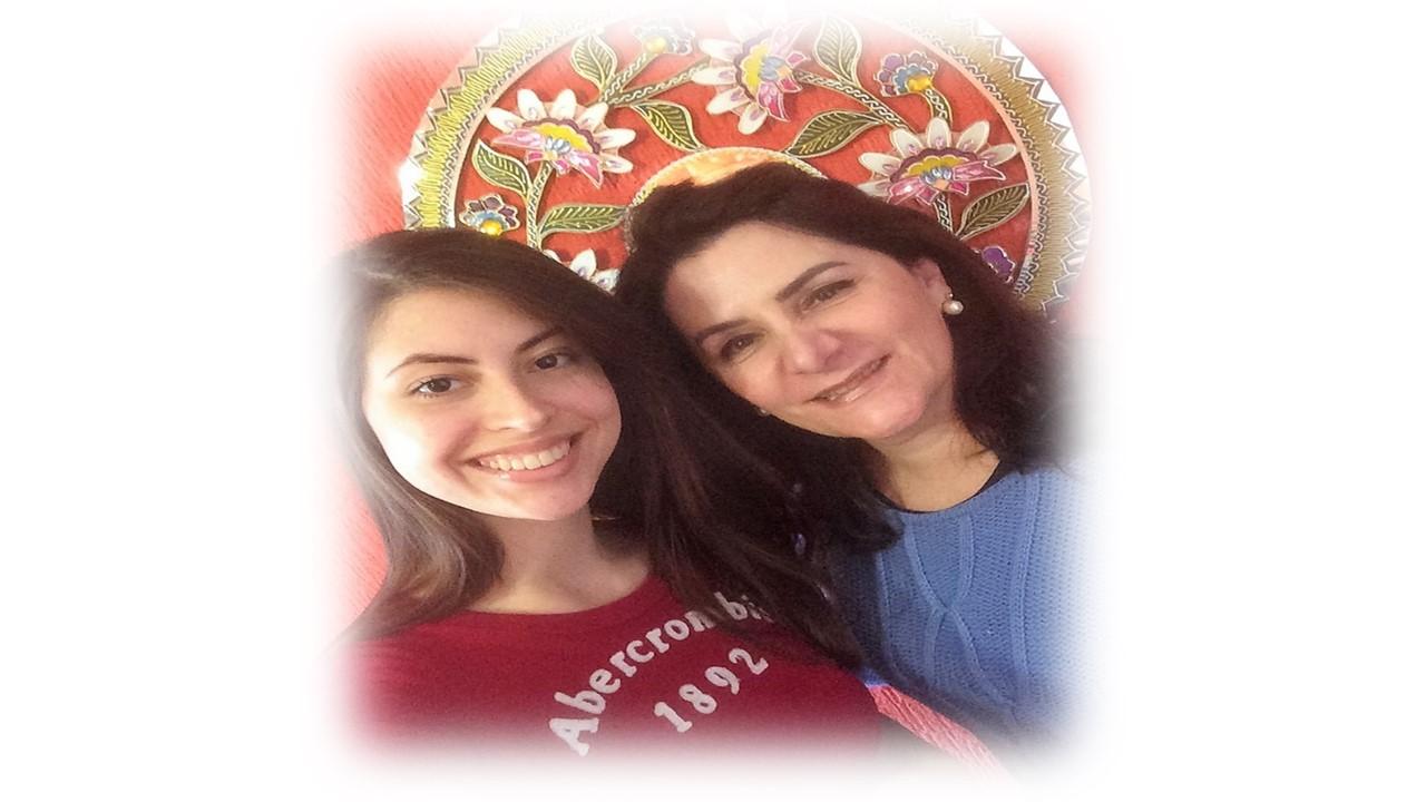 Angela Gardinalli e aluna Bianca