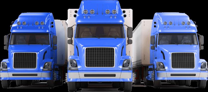 3 Blue Trucks