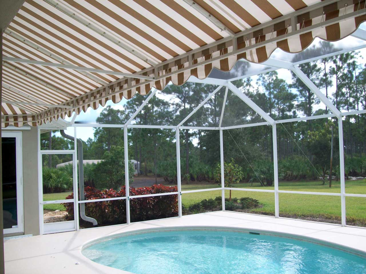 Residential pool patio