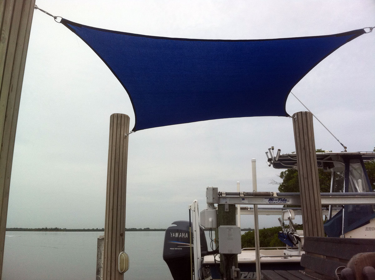 Dock shade sail