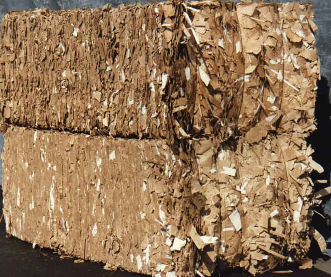 New Double-Lined Kraft Corrugated Cuttings No Dark Medium White Under 20%