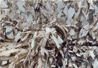 Groundwood Flyleaf Shavings w/ Hot Melt Glue