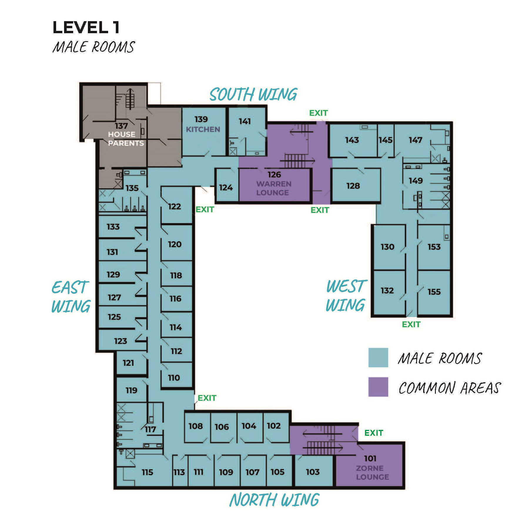 Barkley Hall floor plan 1st floor