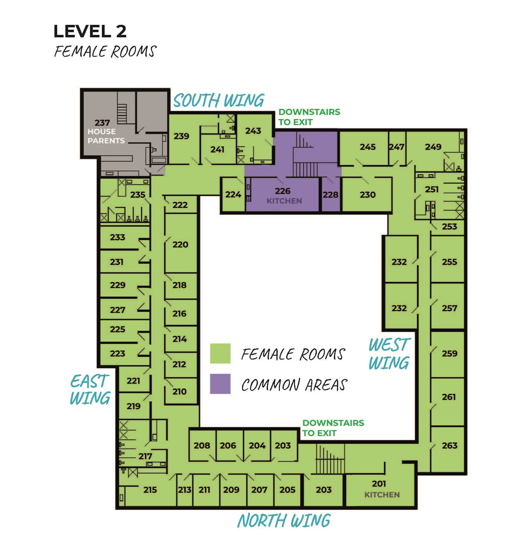Barkley Hall floor plan 2nd floor