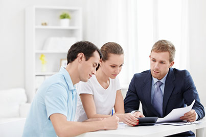 people working with accountant