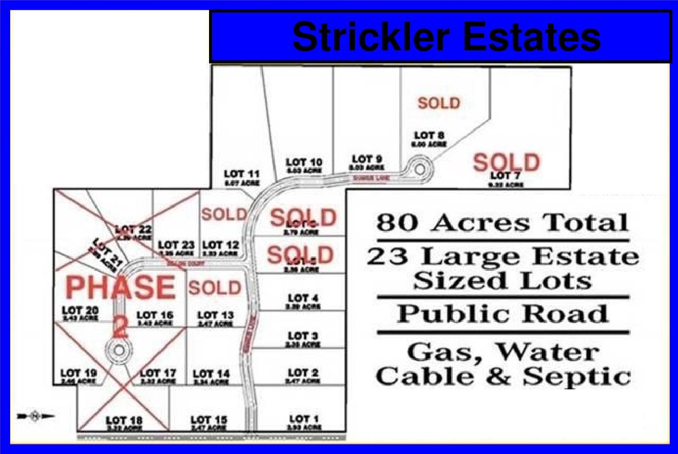strickler estates map overview