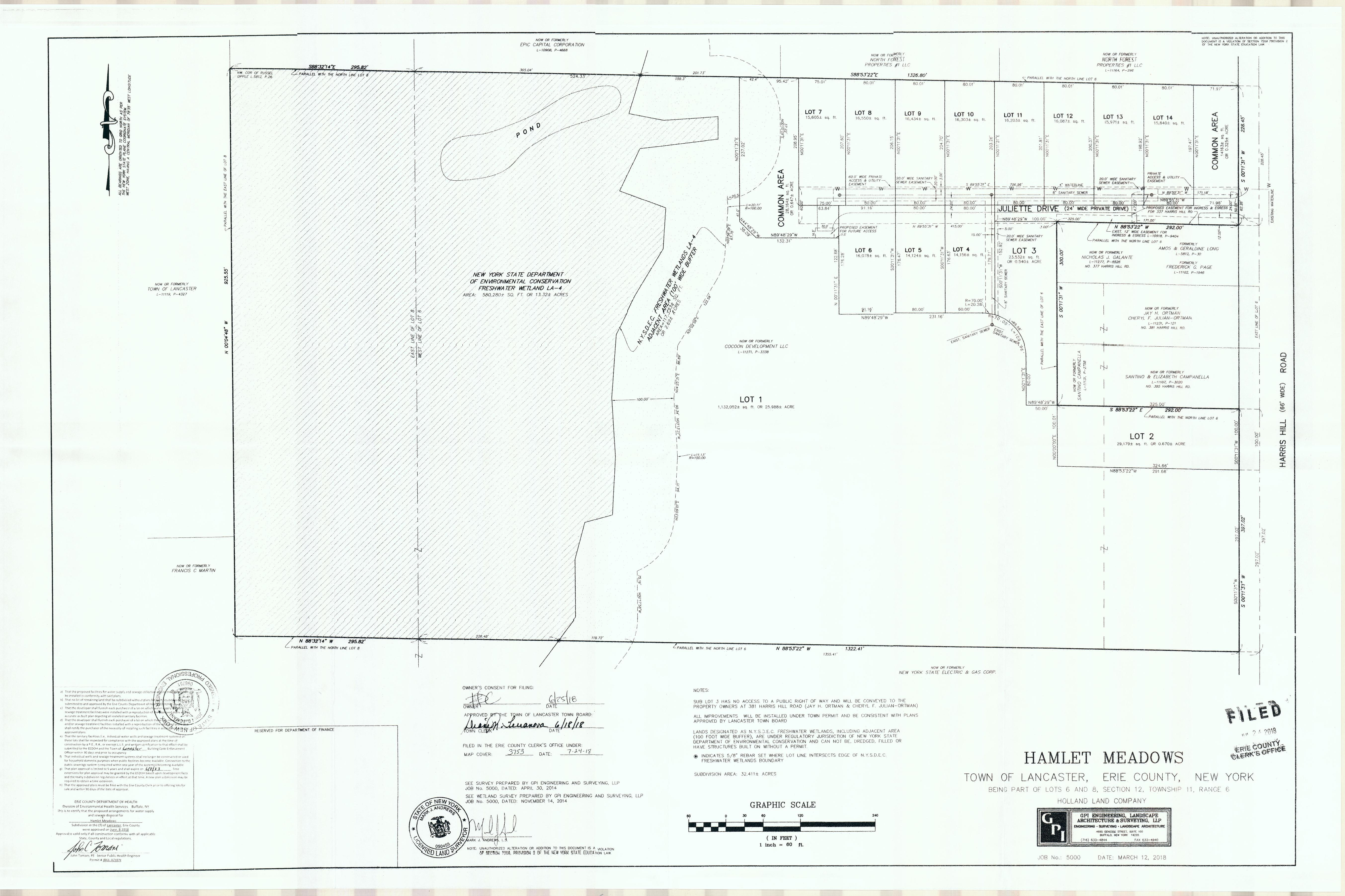 Northwoods Subdivision Map