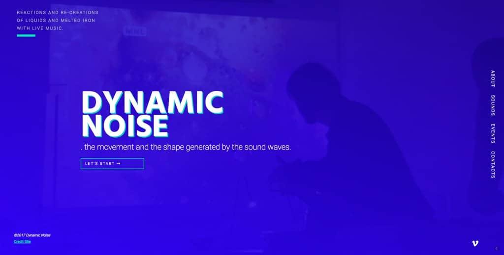 Sito internet dei Dynamic Noise