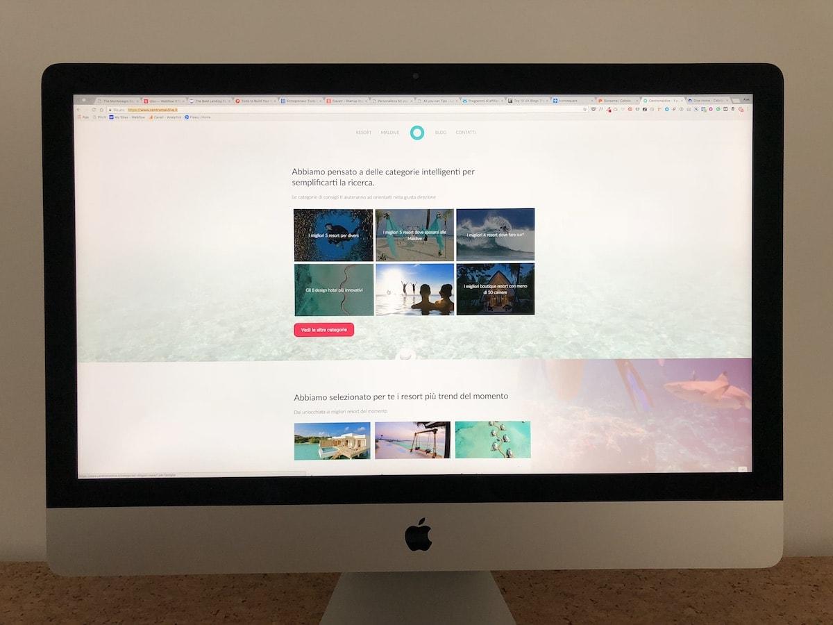 Realizzazione sito centromaldive