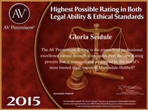 av preeminent rating certificate