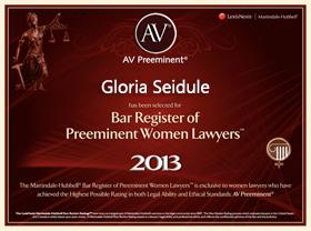 av preeminent lawyers certificate