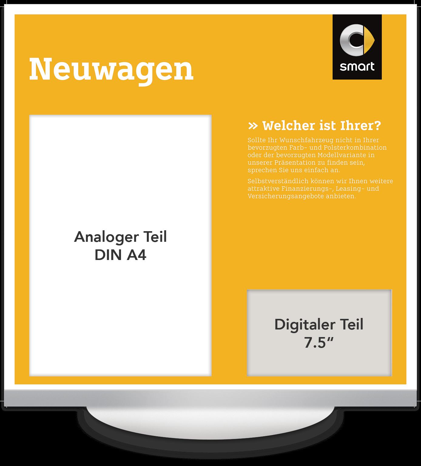 Elektronisches Preisschild 7.5 Zoll Smart Neuwagen Design