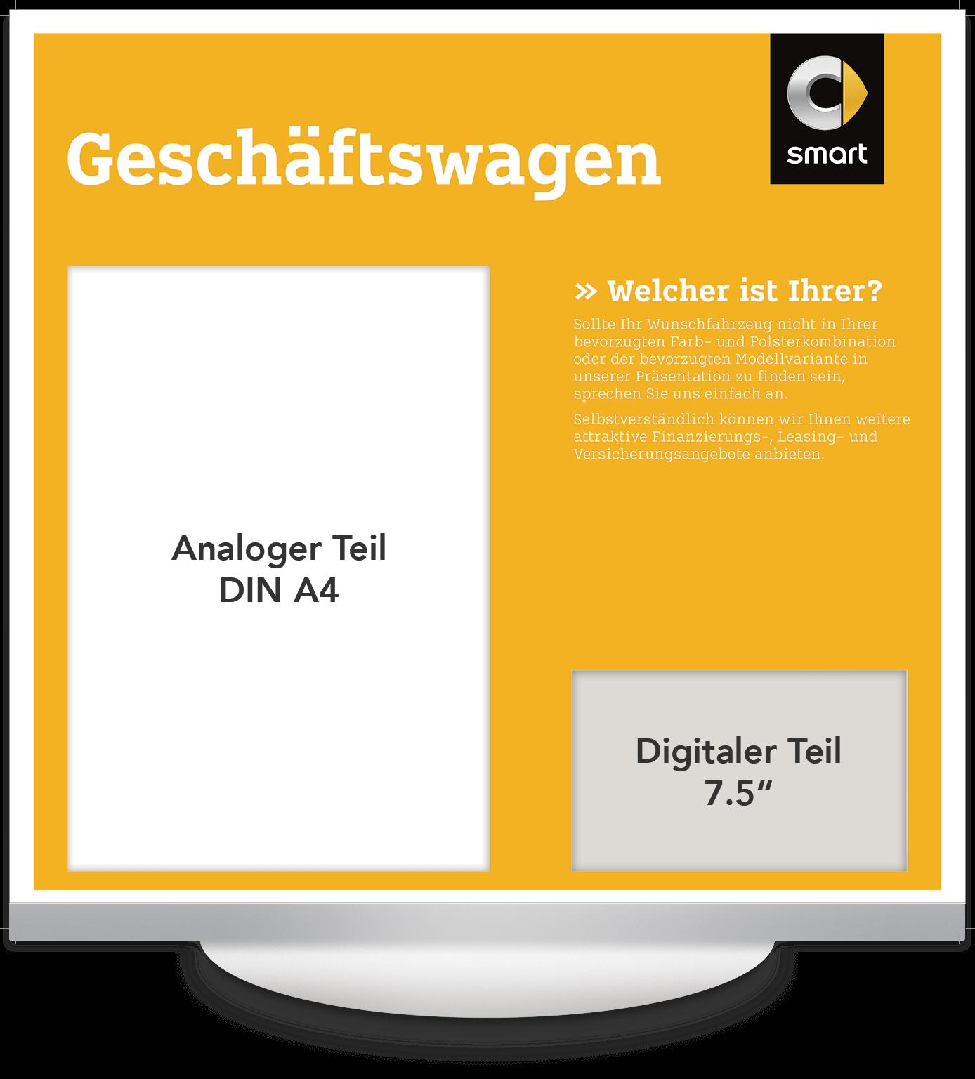 Elektronisches Preisschild 7.5 Zoll Smart Geschäftswagen Design
