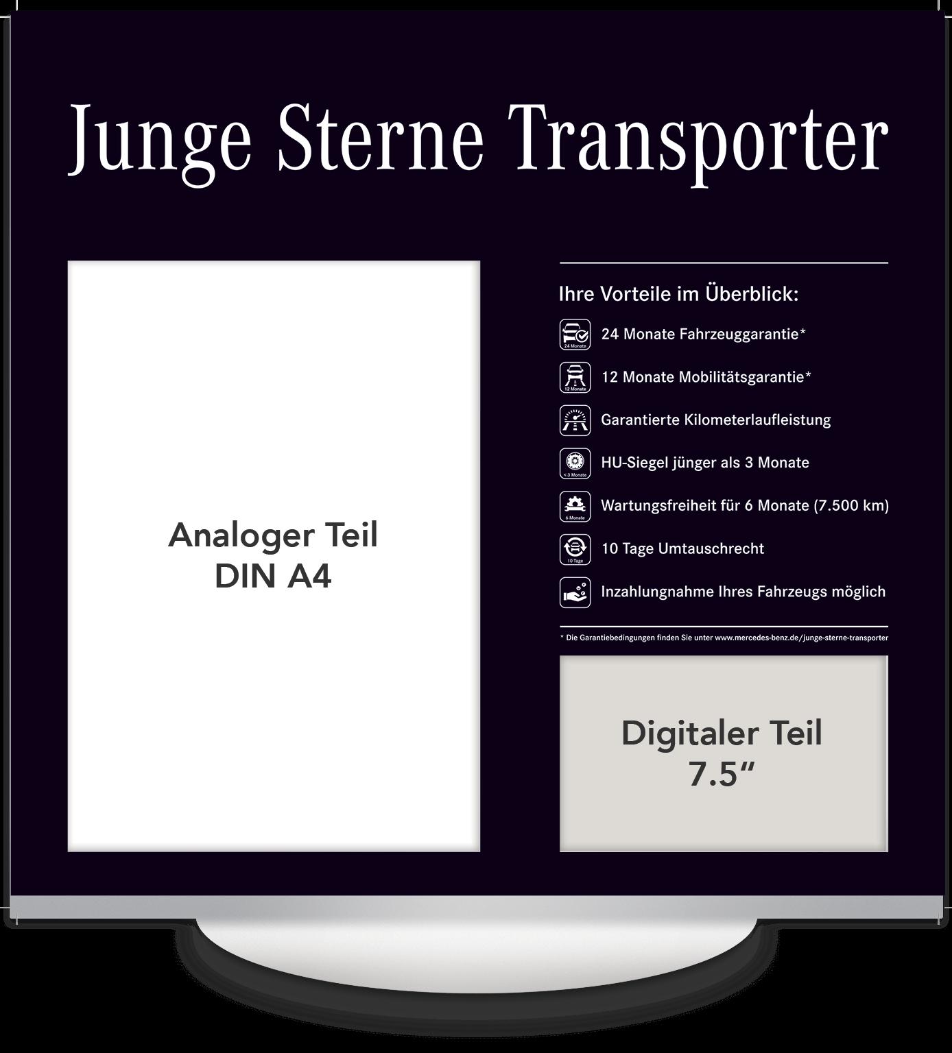 Elektronisches Preisschild 7.5 Zoll Mercedes Junge Sterne Transporter Design