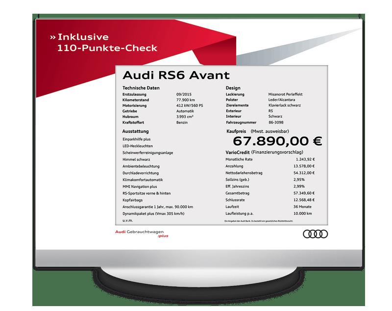 Elektronisches Preisschild 12.5 Zoll Audi GW Plus Design