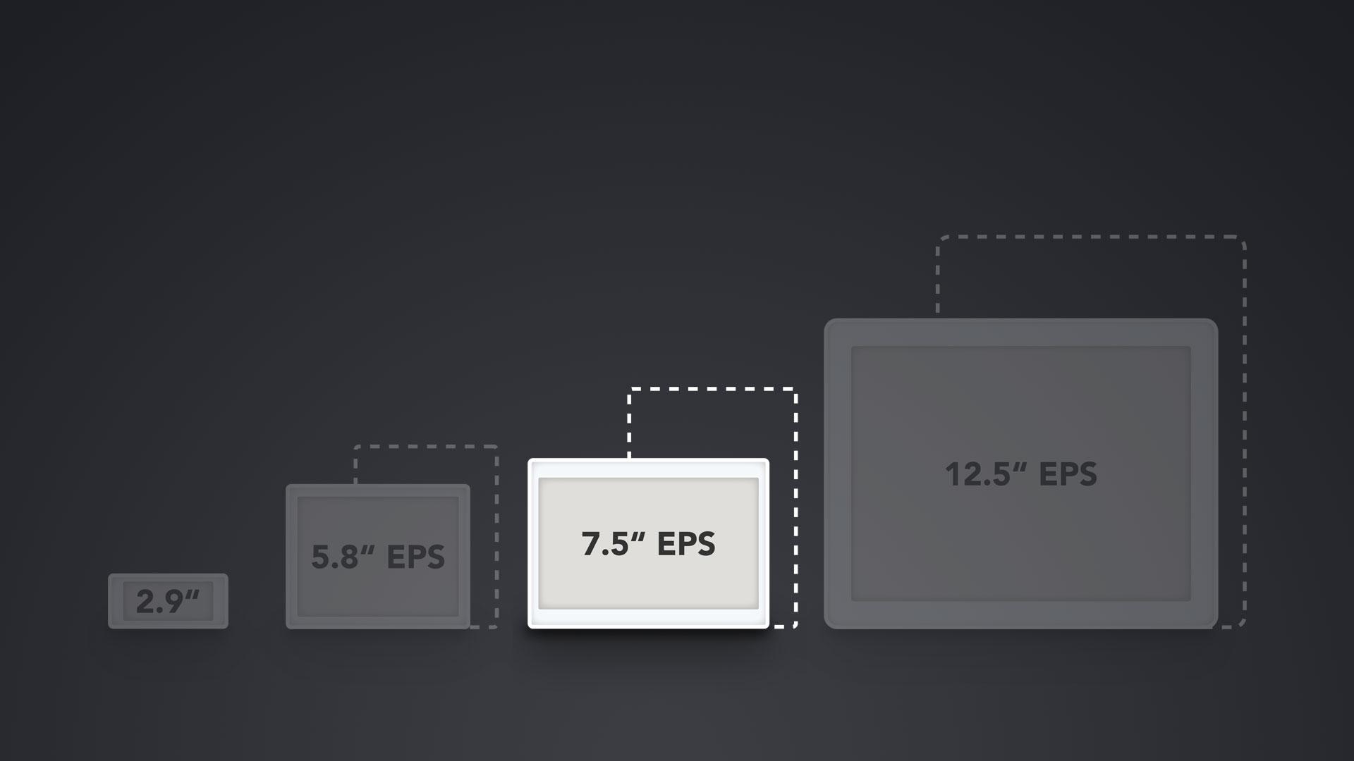 """Vergleich ESL Displays 7.5"""""""